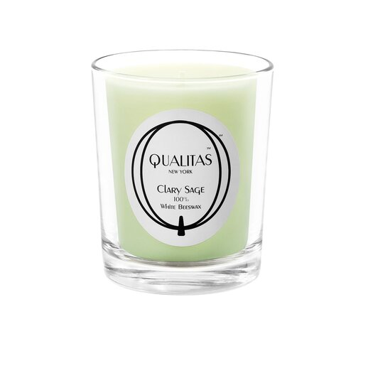 Qualitas Candles Beeswax Clary Sage Scented Candle