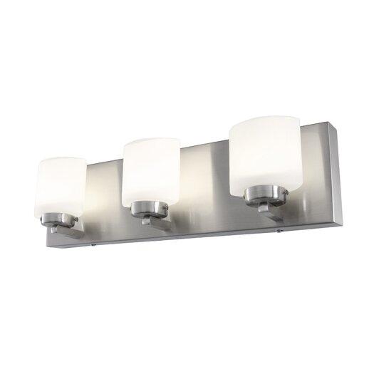 Alternating Current Clean 3 Light LED Vanity Light