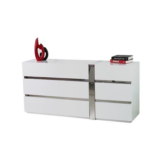 Casabianca Furniture Cristallino 6 Drawer Dresser