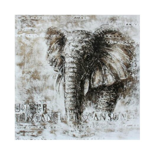 Elephant Framed Painting Print