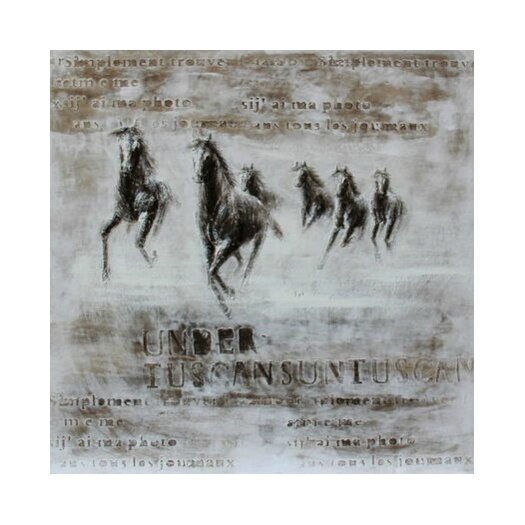 Wild Steeds Framed Painting Print