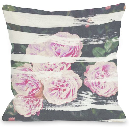 One Bella Casa Oliver Gal Blooming Strokes Pillow