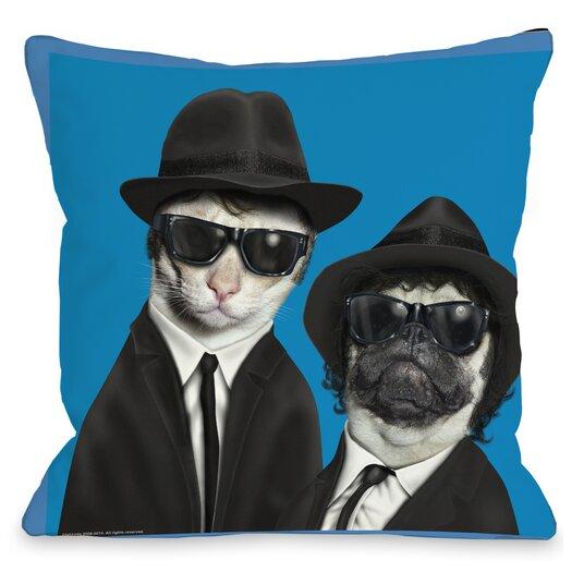 One Bella Casa Pets Rock Brothers Pillow