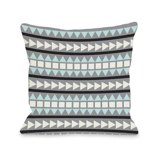 One Bella Casa Tobi Print Geometric Pillow