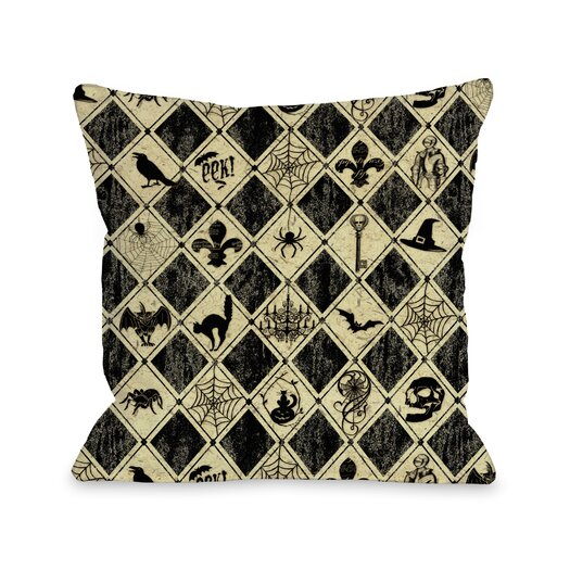 One Bella Casa Spooky Diamonds Pillow