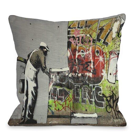 One Bella Casa Graffiti Wallpaper Pillow