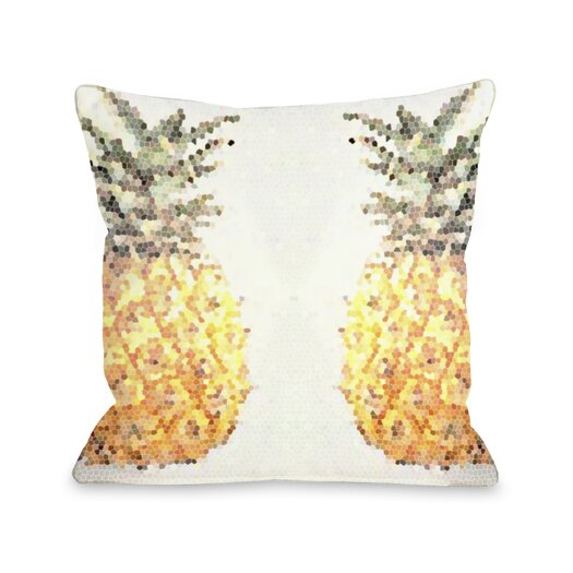 One Bella Casa Pineapple Half Pillow