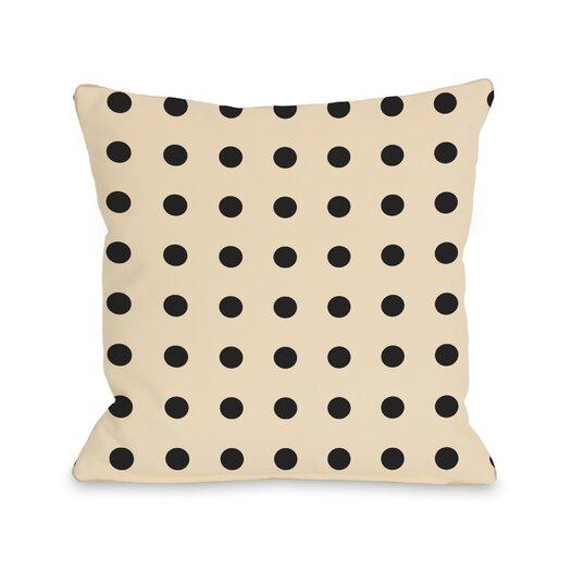 One Bella Casa Penny Polka Dots Pillow