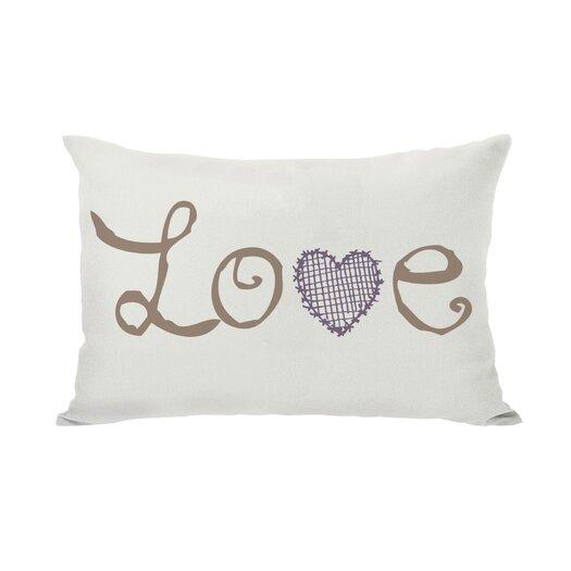 One Bella Casa Love Crosshatch Heart Throw Pillow