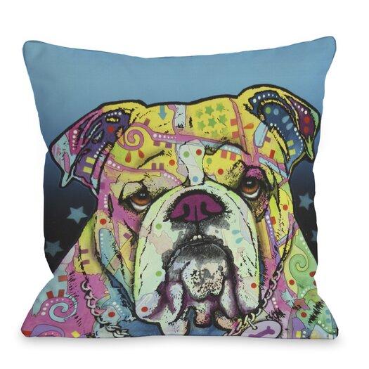 One Bella Casa Doggy Décor The Bulldog Pillow