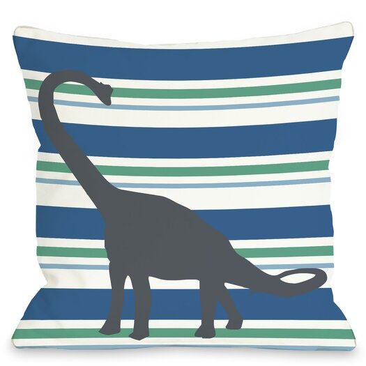 One Bella Casa Apostosaurus Stripes Pillow