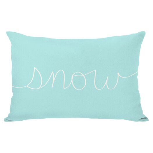 One Bella Casa Holiday Snow Mix and Match Pillow