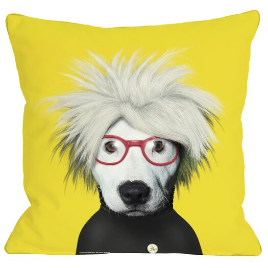 One Bella Casa Pets Rock Soup Throw Pillow
