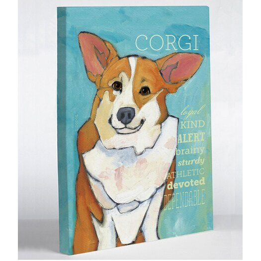 One Bella Casa Doggy Decor Corgi 2 Graphic Art on Canvas