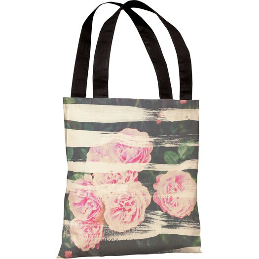 One Bella Casa Oliver Gal Blooming Strokes Tote Bag