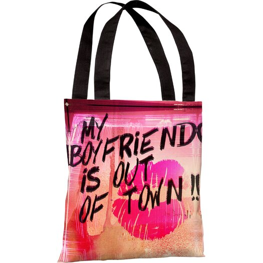 One Bella Casa Oliver Gal My Boyfriend Is out of Town Tote Bag