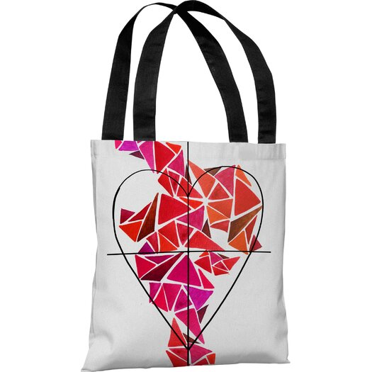 One Bella Casa Oliver Gal Piece of My Heart Tote Bag