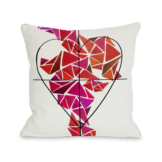 One Bella Casa Oliver Gal Piece of My Heart Pillow