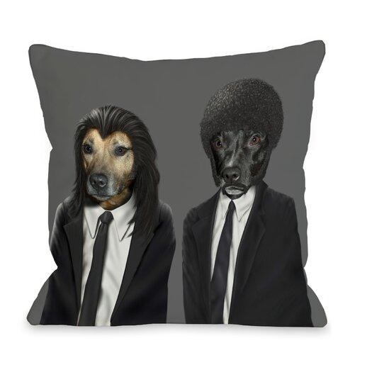 One Bella Casa Pets Rock Hit Dogs Pillow