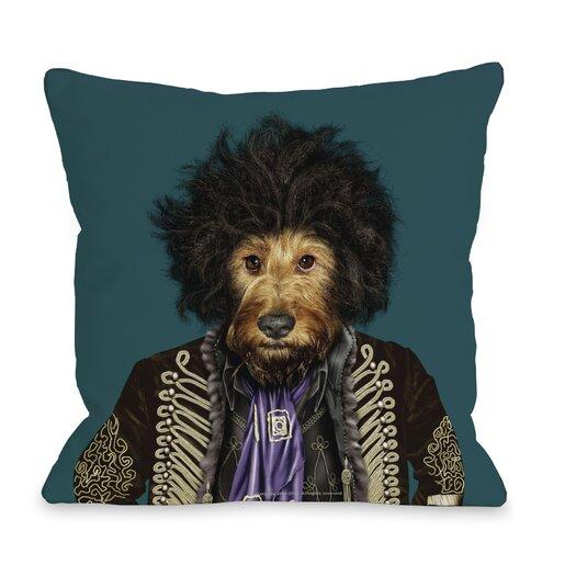One Bella Casa Pets Rock Psychedelic Pillow