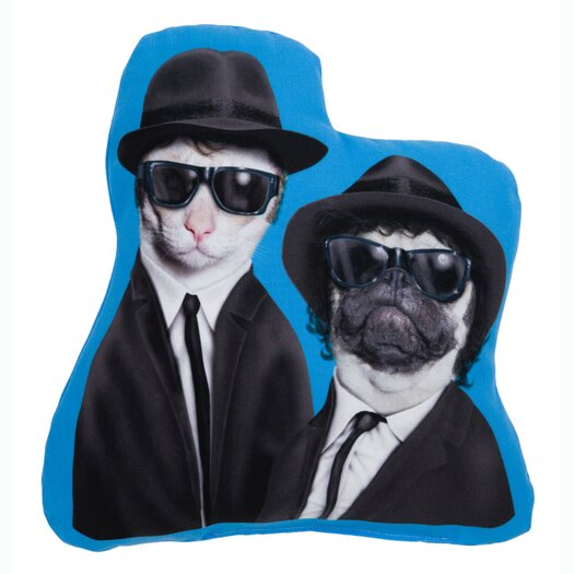 One Bella Casa Pets Rock Brothers Shaped Pillow