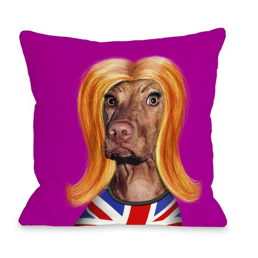 One Bella Casa Pets Rock Redhead Pillow