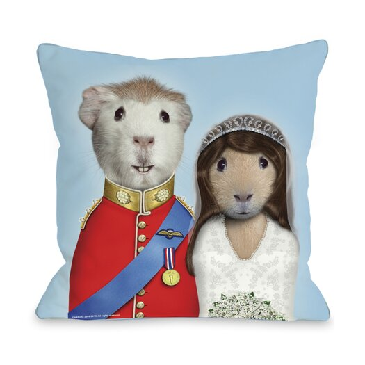 One Bella Casa Pets Rock Mr & Mrs Pillow
