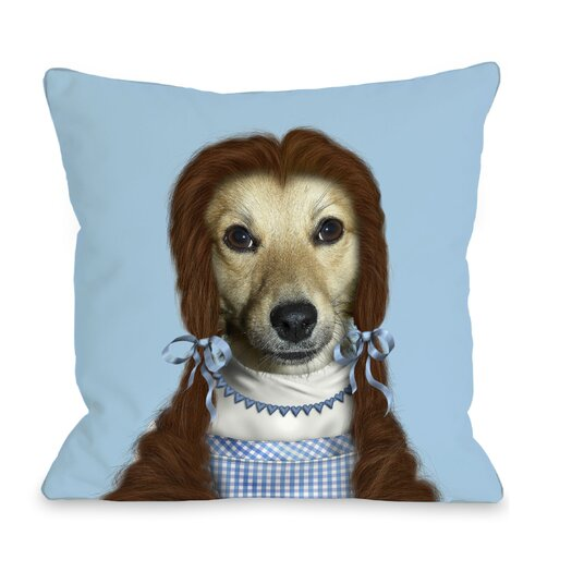One Bella Casa Pets Rock Ruby Pillow