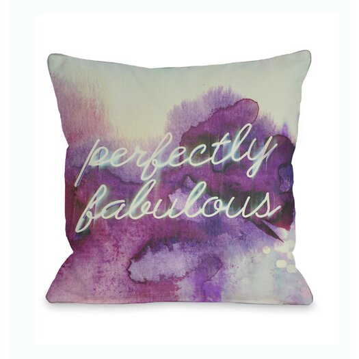 One Bella Casa Oliver Gal Perfectly Fabulous Pillow