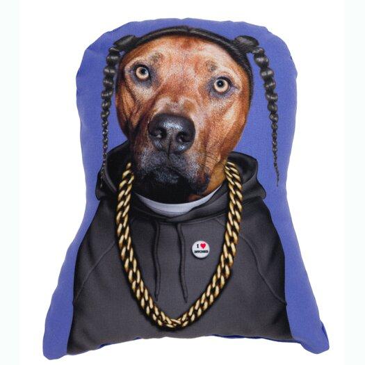 One Bella Casa Pets Rock Rap Shaped Pillow