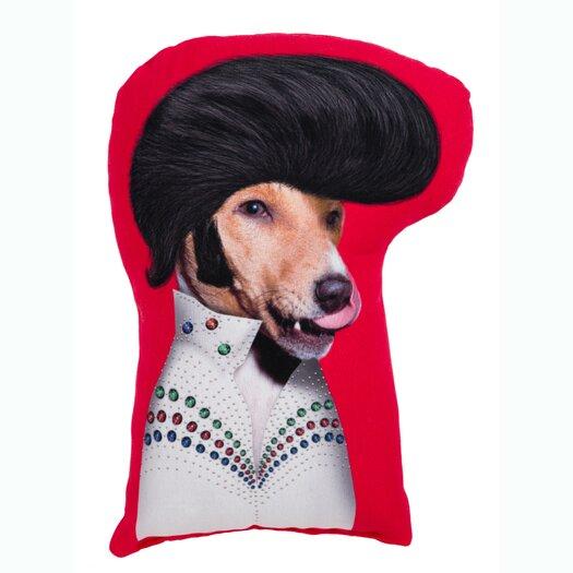 One Bella Casa Pets Rock Rock n Roll Shaped Pillow
