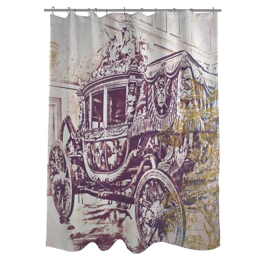 One Bella Casa Oliver Gal Charles X Polyester Shower Curtain