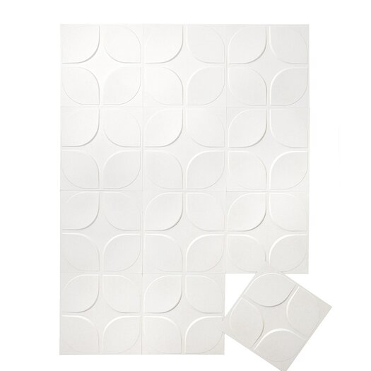 Inhabit Wall Flats Lotus Floral 12 Piece Wallpaper Tiles