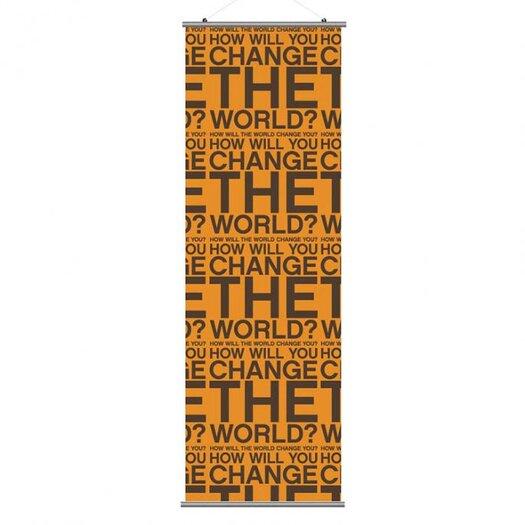 Inhabit Slat Change the World Wall Hanging
