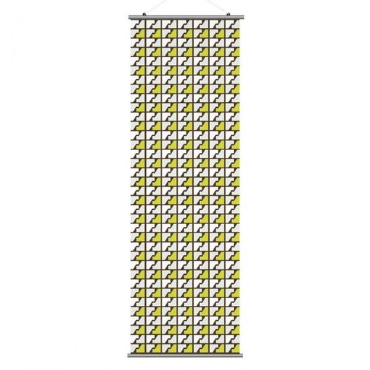 Inhabit Estrella Faux Houndstooth Slat Wall Hanging