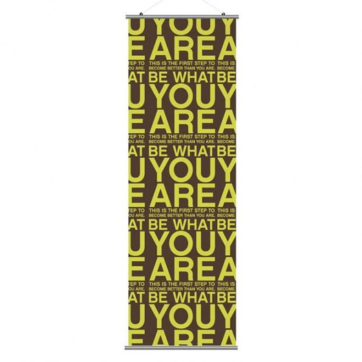 Inhabit Slat You Are Wall Hanging