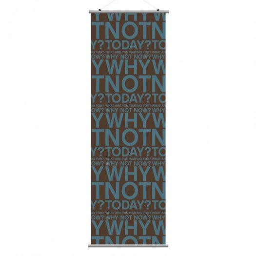 Inhabit Slat Why Not Wall Hanging