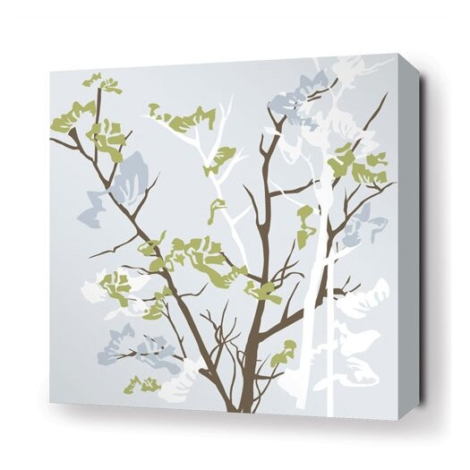 Rhythm Ailanthus Stretched Graphic Art on Canvas