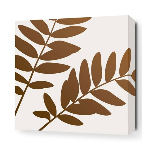 Rhythm Leaf Stretched Graphic Art on Canvas