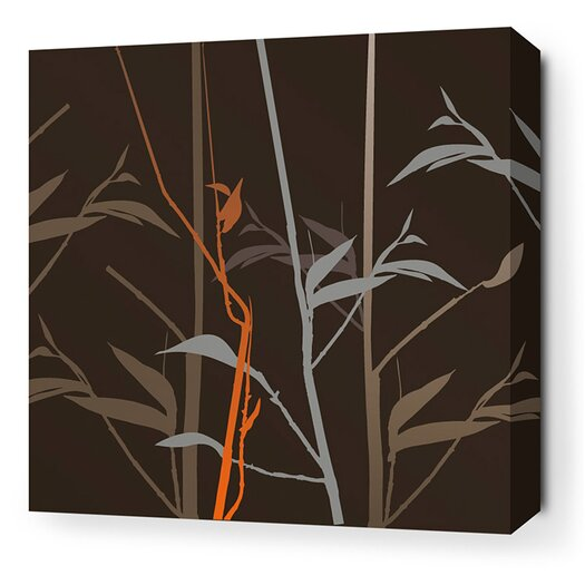 Morning Glory Tall Grass Stretched Graphic Art on Canvas in Charcoal and Rust