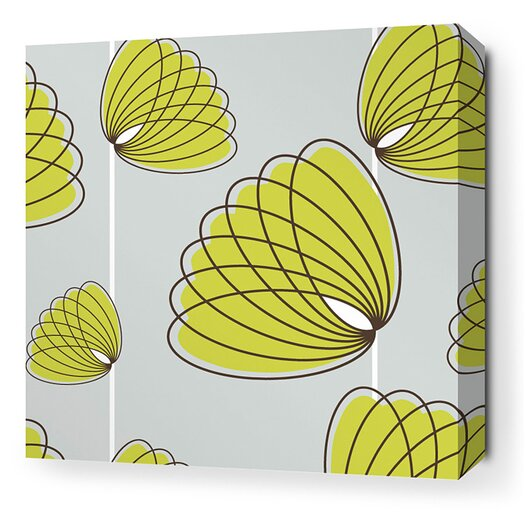 Inhabit Aequorea Lotus Graphic Art on Canvas in Silver and Grass