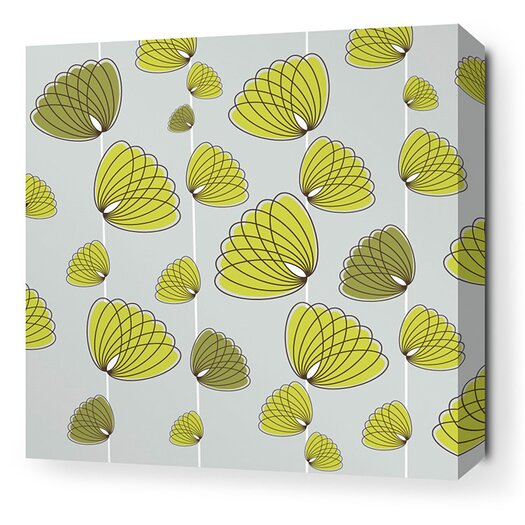 Aequorea Floating Lotus Graphic Art on Canvas in Silver and Grass