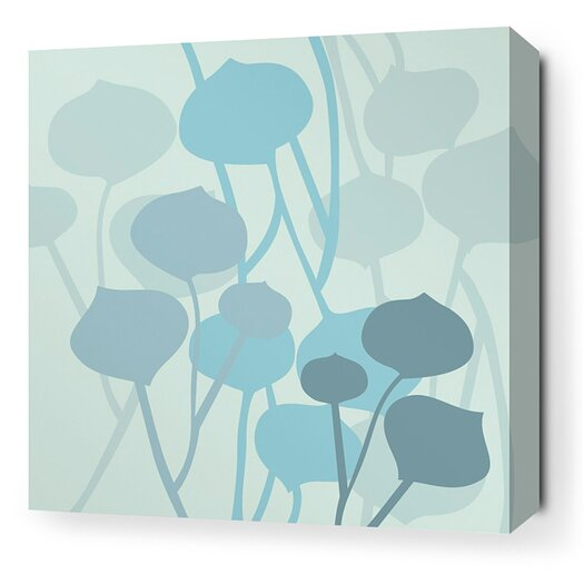 Aequorea Seedling Graphic Art on Canvas in Light Cornflower