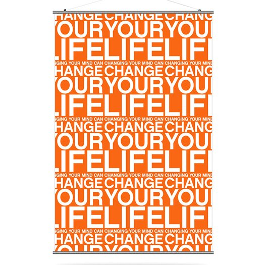 Inhabit Slat Change Your Life Wall Hanging