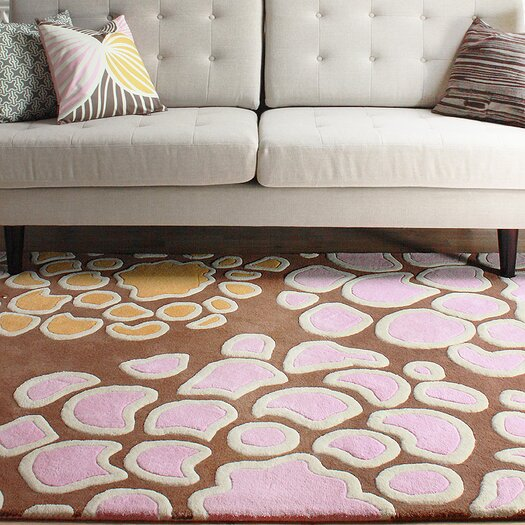 Inhabit Mum Rug in Blush/ Sunshine Area Rug