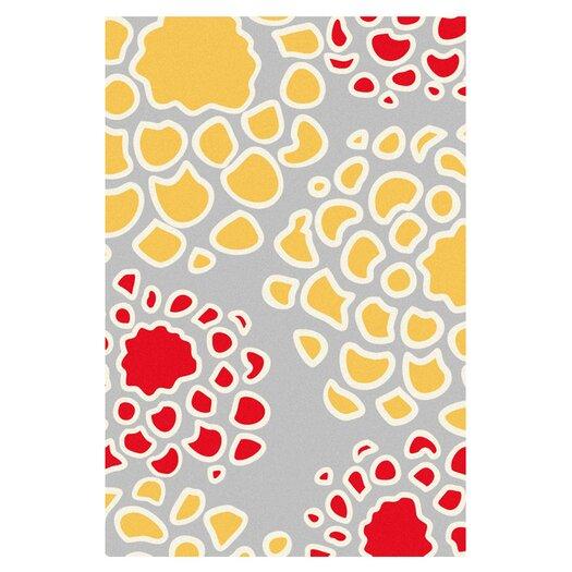 Inhabit Mum Rug in Scarlet/ Mustard Area Rug