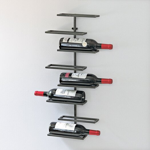 Wine Enthusiast 8 Bottle Wall Mounted Wine Rack
