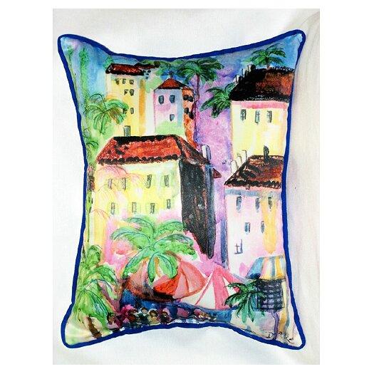 Betsy Drake Interiors Coastal Fun City II Indoor / Outdoor Pillow