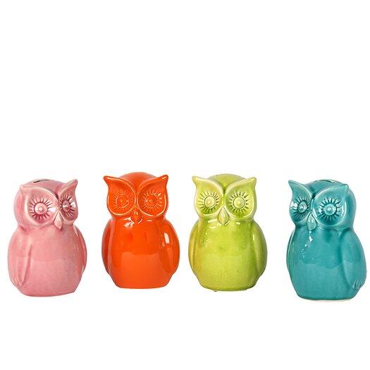 Urban Trends Ceramic Owl Bank Figurines