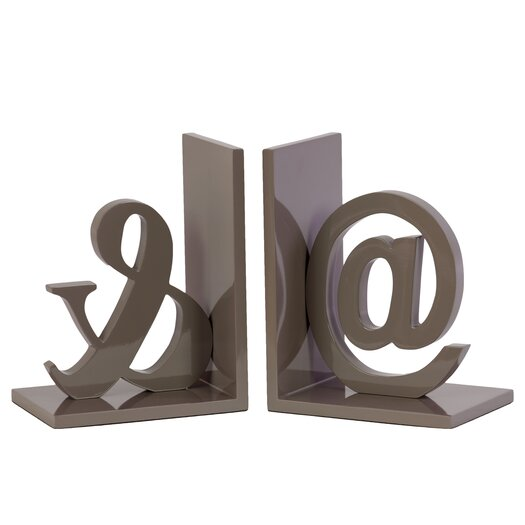 Urban Trends Wooden @ and Ampersand Bookend